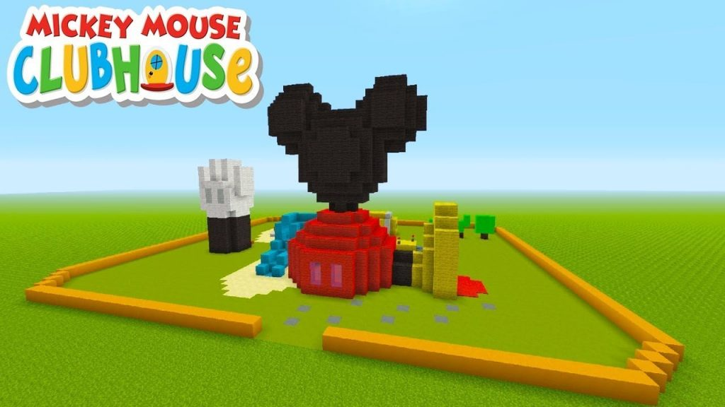 Cache Cache Sur Minecraft Map La Maison De Mickey Mickey Mouse Clubhouse Ps4 Fr Disneyland Green Keeping Supplies